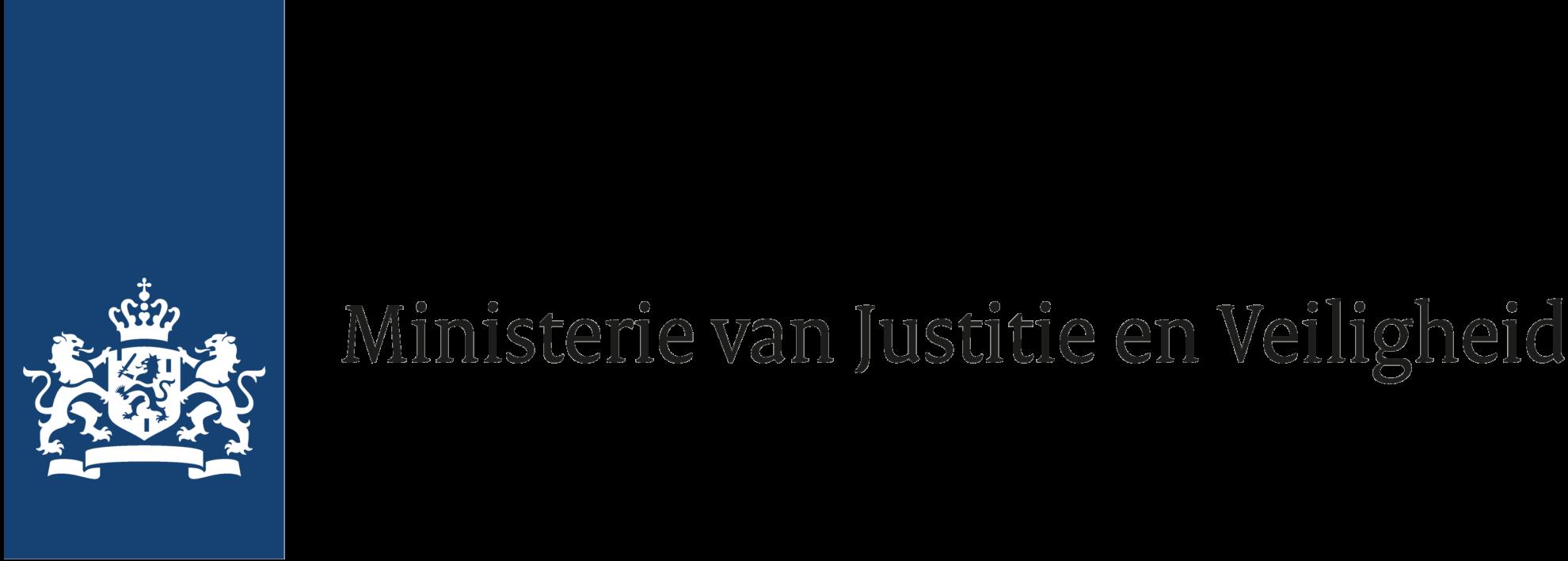 logo Ministerie van Justitie en Veiligheid
