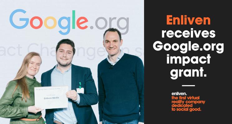 Enliven ontvangt Google impact fund.